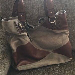 Gorgeous taupe and brown Fossil hobo bag